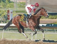 Songbird at Santa Anita horserace racing framed fine art canvas print