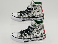 Converse All Star Kids Chuck Taylor Hi Top  Christmas Themed Trainers Boots New