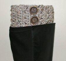 Handmade Crochet Gray Marble Boot Cuffs, Boot Toppers, Leg Warmers