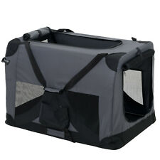 PRO.TEC® Hundetransportbox L GRAU Faltbar Transportbox Hunde Box Trage Tasche