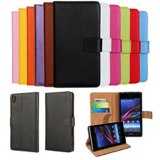 Flip Leather Wallet Book Cover Pouch Case For Sony Xperia Z3 Z3 Mini S36h L E3