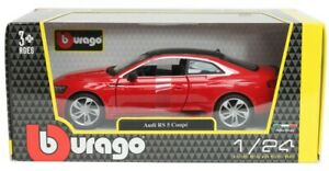 1:24 Audi RS5 Coupe by Bburago in Red 18-21090