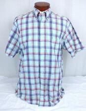 Mens Brooks Brothers Button Check Down Multi-Color Plaid Shirt Size M Medium