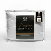 100% Hungarian Goose Down Luxury Duvet / Quilt King Size or Pair of Pillows