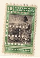 ARGENTINE  N°:129 DIEZ PESOS  NEWS - YEAR 1903   CV : 70 €