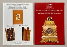 Prestidigitation & Illusionnisme 2 Catalogues de Vente illustrés 734 et 661 Lots