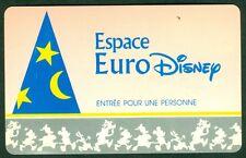 PASSEPORT ESPACE EURO DISNEY ADULTE PARIS TRES BON ETAT N°5