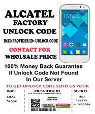 ALCATEL UNLOCK CODE FOR ALCATEL 6010X ORANGE DOMINICANA REPUBLIC
