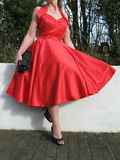 STUNNING PIN UP 1940/50s STYLE FULL CIRCLE SWING/JIVE DRESS 16 ..REDUCED PRICE.