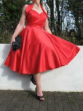 STUNNING PIN UP 40/50s STYLE FULL CIRCLE SWING/JIVE DRESS 12 REDUCED PRICE