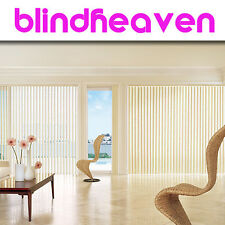 Vertical Blind Replacement Slats / Louvers in PLAIN WHITE or CREAM / Top Brand