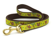 Up Country - Dog Puppy Design Leash - Made In USA - Nuts & Squirrels - 4, 6 Foot
