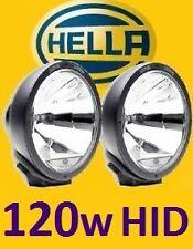 1pr HELLA Rallye 4000 Spot Driving Lights With Waterproof 120w HID Kit Prefitted