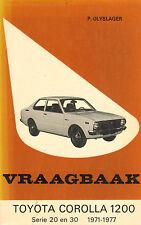 VRAAGBAAK TOYOTA COROLLA 1200 - SERIE 20 EN 30 (1971-1979)