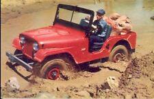 1962 Jeep CJ5 Foldover Factory Postcard wg6294-M3OPUE