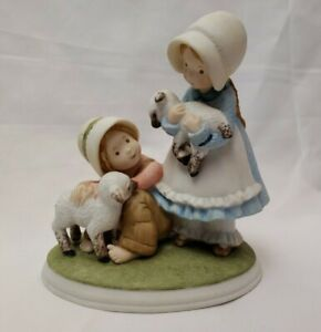 Vintage 1979 Holly Hobbie lambs or sheep Porcelain Figurine Designers Collection