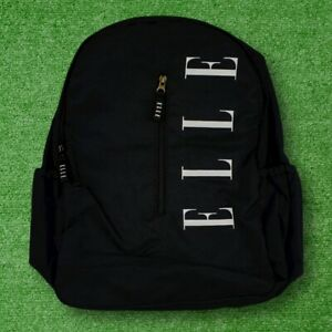 Women's Vintage Y2K Black ELLE Spellout Backpack - BRAND NEW WITH TAGS