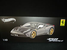 Hot Wheels Elite Ferrari 458 Speciale Matt Black 1/18 Limited Edition
