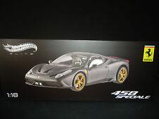 Hot Wheels Elite Ferrari 458 Speciale Matt Black 1/18 Limited Edition