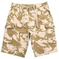 GENUINE BRITISH ARMY ISSUE DESERT DPM BERMUDA LENGTH COMBAT SHORTS XS to XXL