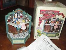 "Enesco Music Box ""Ice Cream Parlor"" Soda Shop Lighted Action Musical (F715)"
