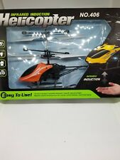 USB Mini Drone Flying Helicopter Infrared Induction For Kids Orange