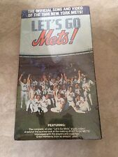 1986 Let's Go New York Mets video VHS NEW factory sealed