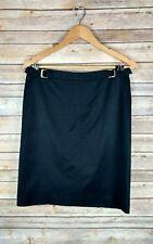 BCBG Max Azria Women's Skirt Size 8 Black Straight Pencil Career Belt Detail