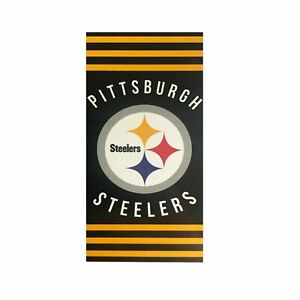 NEW Pittsburgh Steelers Football Team Licensed Stripes Beach Towel 30''x 60''