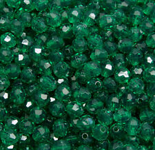 8mm Emerald Green Faceted Round Craft Beads 500pc. made in USA