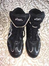 Euc Asics Boxing Shoes color Black / Silver Jy302 F280403 Sz. 14 Med