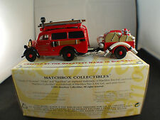 Matchbox YFE18 Ford E83W van fire truck 1950 pompier neuf en boite