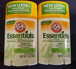 Lot of 2 Arm & Hammer Essentials Natural Deodorant Fresh Rosemary Lavender 1 oz