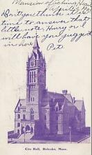 Antique POSTCARD c1905 City Hall HOLYOKE, MA MASS. 18917