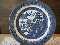 """Churchill Blue Willow Dinner Plate Made In England 10 1/4"""""""