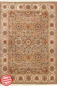 Handmade Area Rug Green 'Buasa' Oriental rug Wool Hand Knotted Carpet 9x12 ft