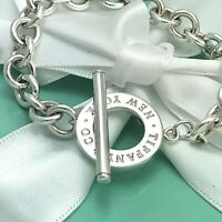 "7.5"" Tiffany & Co Sterling Silver New York Toggle Bracelet"