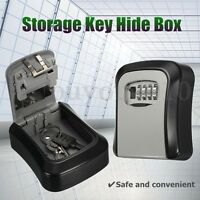 4 OUTDOOR HIGH SECURITY WALL MOUNTED KEY SAFE BOX CODE LOCK STORAGE