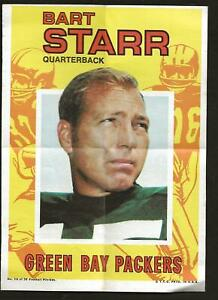 """1971 TOPPS FOOTBALL POSTER #10 BART STAR 5"""" x 7"""" Excellent Condition!"""