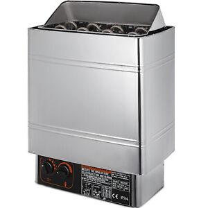 9KW Poêle Électrique Inox de Sauna avec Contrôle Intégré Anti-vieillissement