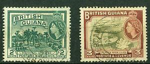 British Guiana 1954, Elizabeth II, SG# 332-333, Fine Used, 2162