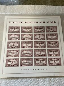 UNITED STATES AIR MAIL STAMP SHEET -- USA #5282 FOREVER 2018