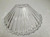 Vintage Glass Light Shade Wall Sconce Ribbed Scallop Hobnail Mid Century Modern