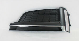 replacement 2018-19 S5 A5 front bumper cover lower LH  side grille insert trim