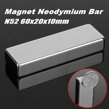 N52 60x20x10mm Super Strong Cuboid Bar Block Rare Earth Neodymium Fridge Magnets