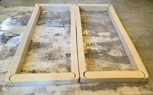 Sleep Number Select Comfort Split King (2 Twin) Foam Side Rail Border Walls Set