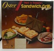Vintage Oster Hot 'n Toasty Sandwich Grill - NIB ALMOND Kitchen Appliance