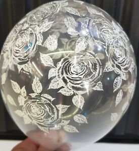 Rose Balloons Clear 5 Inch - Free Post - Qualatex - 20 Balloons