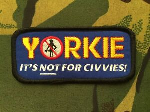 Forces Army Not For Civvies Yorkie Bar Patch  Ration Pack Rat Pack Veteran Poppy