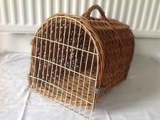 Vintage Wicker Small Pet / Cat Dog Basket Carrier